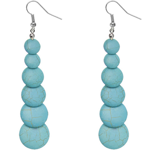 Blue Semi Precious Stone Earrings