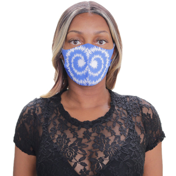 Blue Swirl Pattern Face Mask