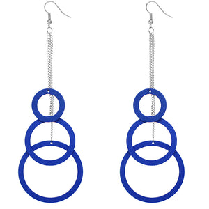Blue Long Chain Earrings