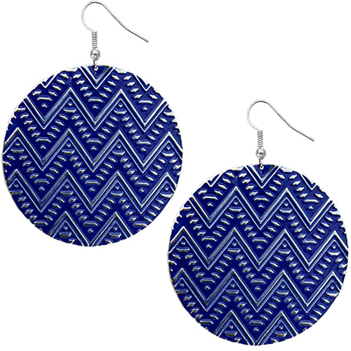 Blue zigzag earrings