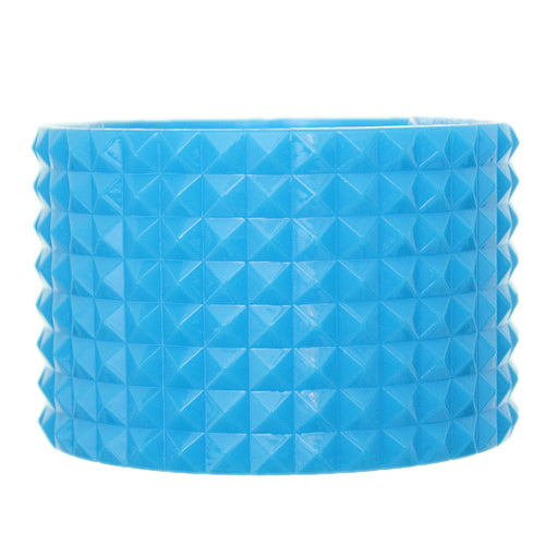 Blue Pyramid Cone Bangle Bracelet