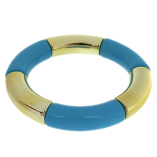 Blue Glossy Stretch Tube Bracelet