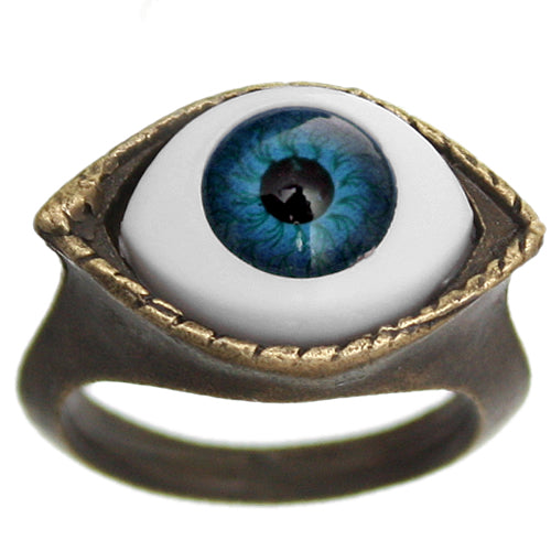 Blue Realistic Evil Eyeball Ring