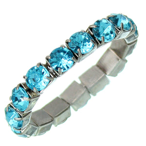Blue Rhinestone Stretch Mini Ring
