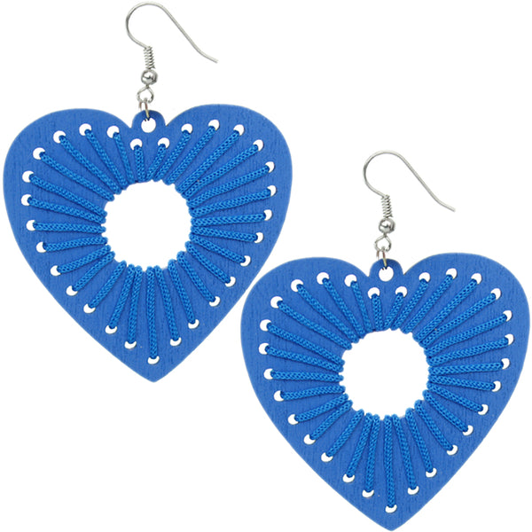 Blue Woven Earrings