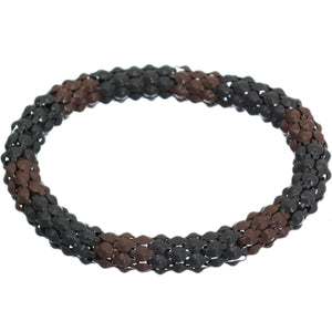 Brown Gray Connected Stretch Bracelet