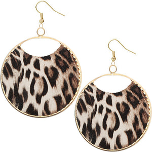 Brown Cheetah Earrings