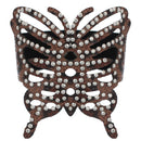 Brown Cheetah Studded Faux Leather Snap Bracelet