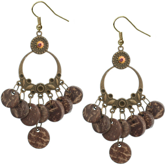 Brown Cork Earrings