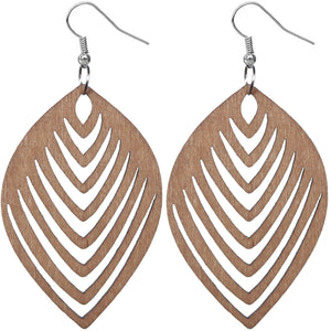 Brown Cutout Leaf Shaped Earrings