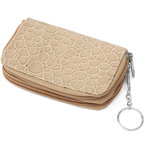 Light Brown Double Pocket Key Chain Wallet