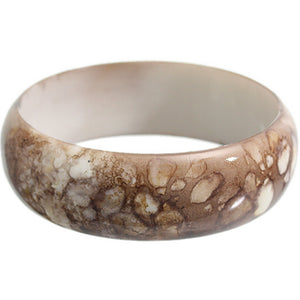 Brown Grunge Textured Bangle Bracelet