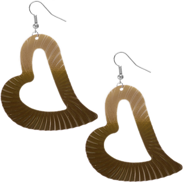 Brown Sexy gigantic earrings