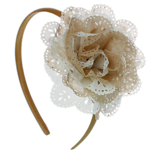 Brown Layered Flower Headband