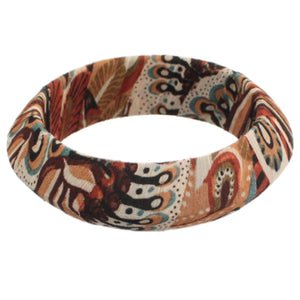 Brown Paisley Bracelet