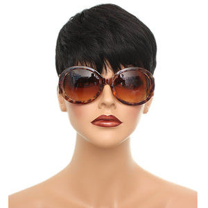 Brown Designer Inspired Cheetah Swirl Sunglasses