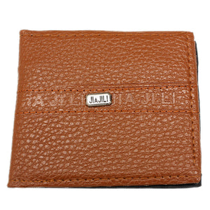 Brown Faux Leather Credit Card Wallet