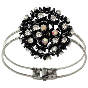 Clear Flower Bouquet Hinged Bracelet