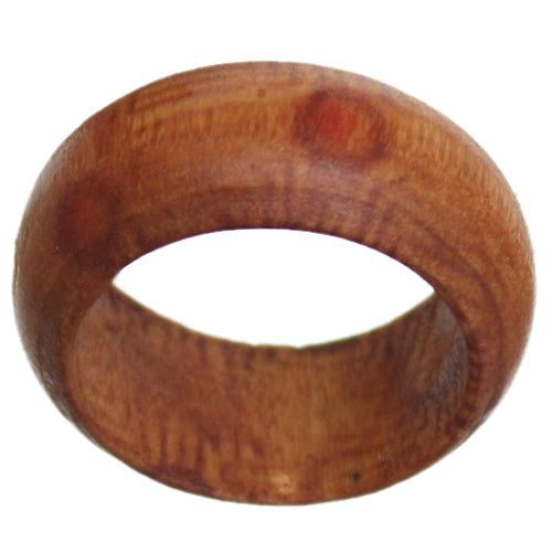 Brown Distressed Wooden Bohemian Ring