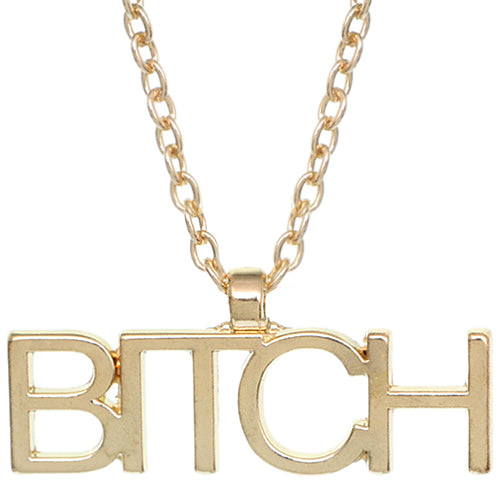 Gold Bitch Necklace