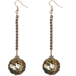 Gold Confetti Ball Chain Earrings