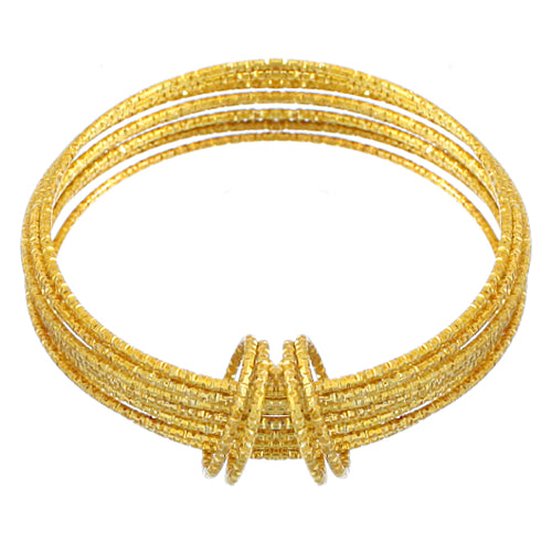 Gold Thin Multi Line Bangle Bracelets