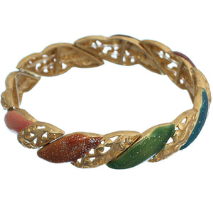 Gold Multicolor Stretch Elegant Bracelet