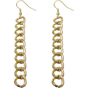 Gold Chain Link Earrings