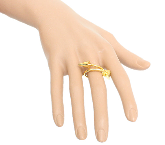 Gold Swirl Mini Cone Adjustable Ring