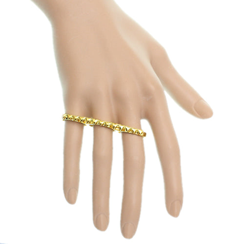 Gold Triple Love Heart Midi Knuckle Ring