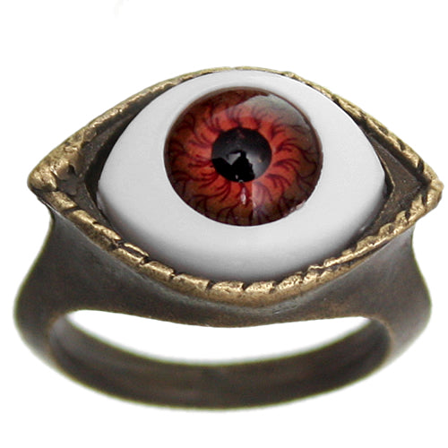 Red Realistic Evil Eyeball Ring