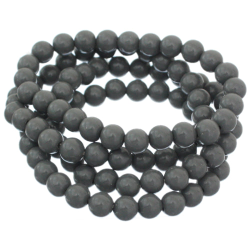 Gray 4-Piece Beaded Stretch Bracelets