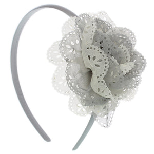 Gray Layered Flower Headband