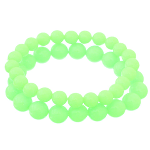 Green 2-Piece Beaded Stretch Bracelets