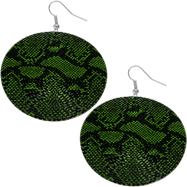 Green Animal Print Earrings