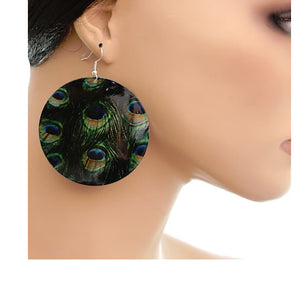 Green Spotted Earrings