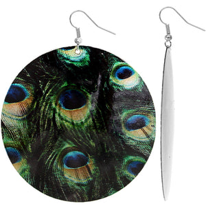 Green and Black Spotted Earrings