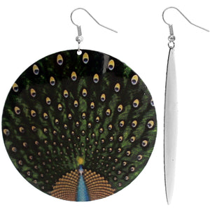 Big Peacock Earrings