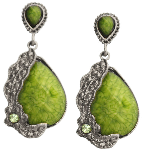 Green Elegant Earrings
