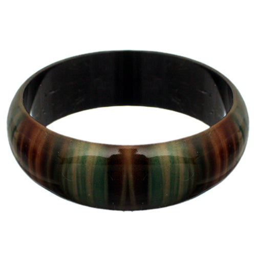 Green Multicolor Striped Bangle Bracelet