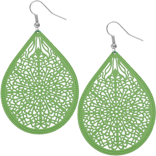 Green Pear-shaped earrings