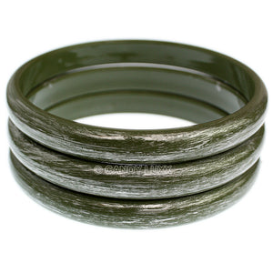 Green 3-Piece Brush Stacked Bracelets