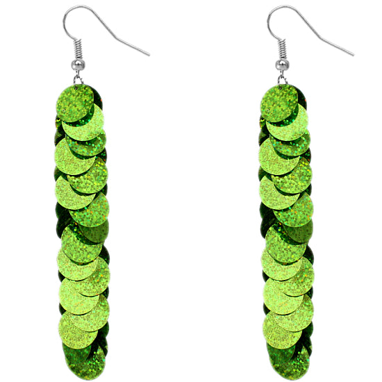Green Sparkle Earrings