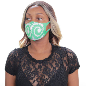 Green Swirl Pattern Face Mask