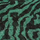 Green Lightweight 3 in 1 Zebra Print Sheer Scarf