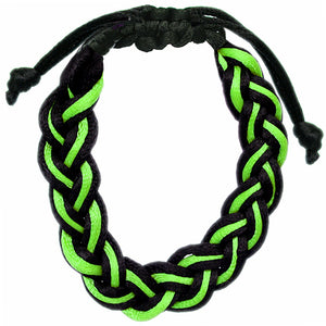 Green Adjustable Braided Friendship Bracelet