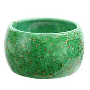 Green Spotted Round Hinged Bracelet