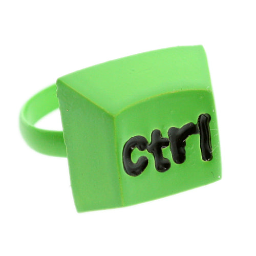 Green Keyboard CTRL Key Adjustable Ring