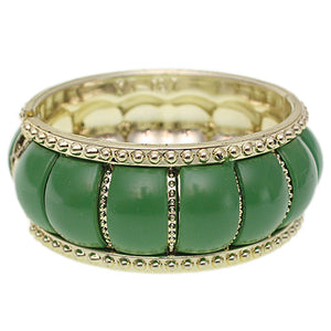 Green Puffy Crown Hinged Bracelet