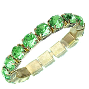 Green Rhinestone Stretch Mini Ring